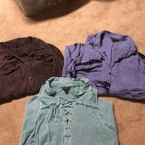 3 Rock & Republic shirts